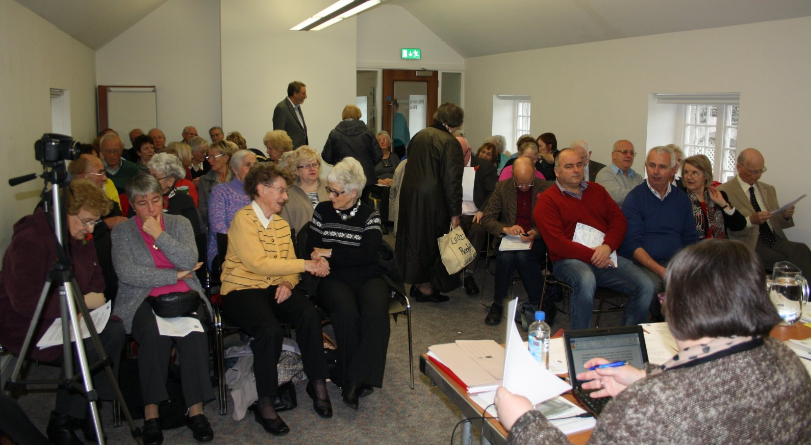 The delegates gathering for the meeting