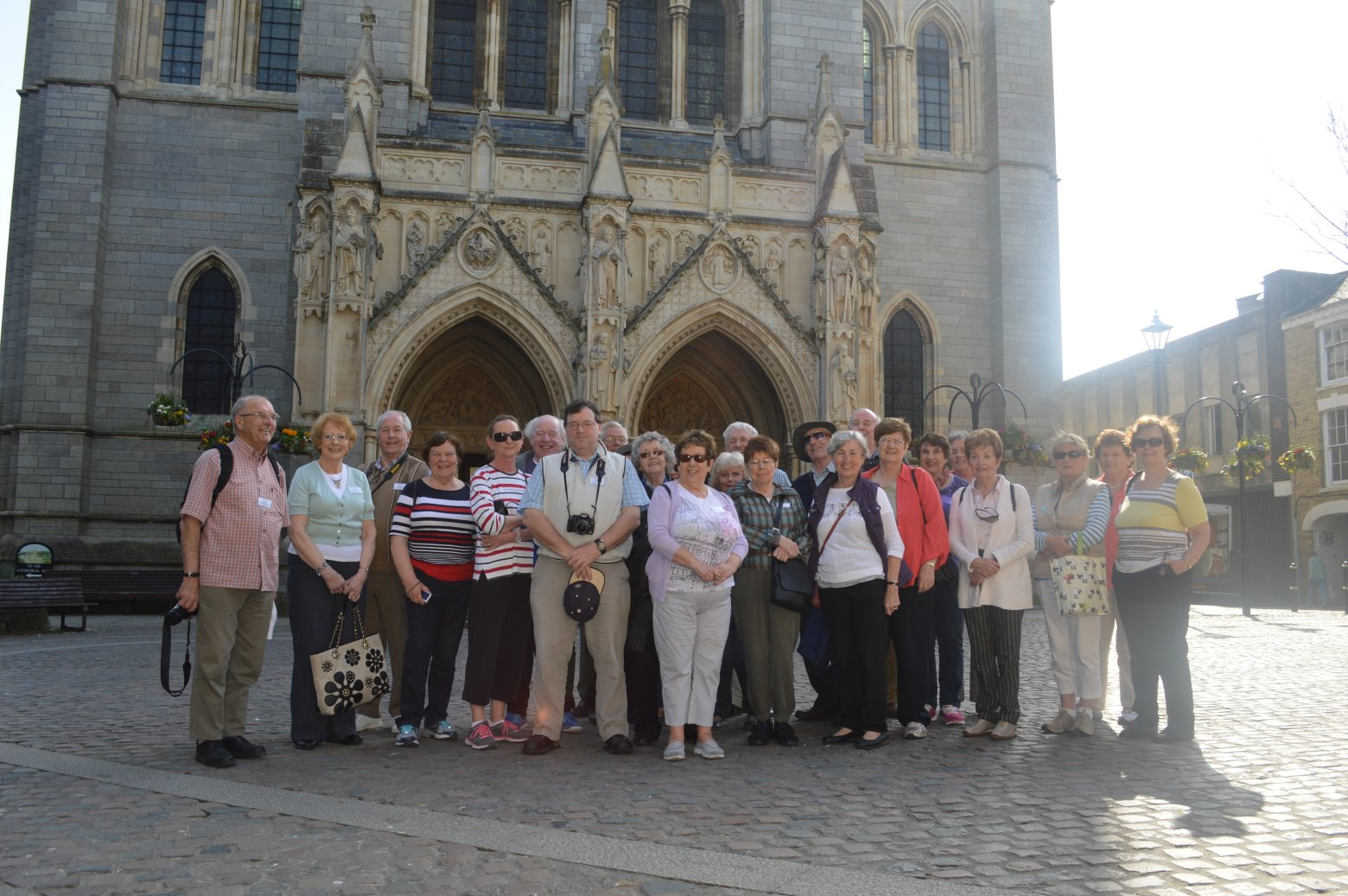 Group outside Truro Cathedral
