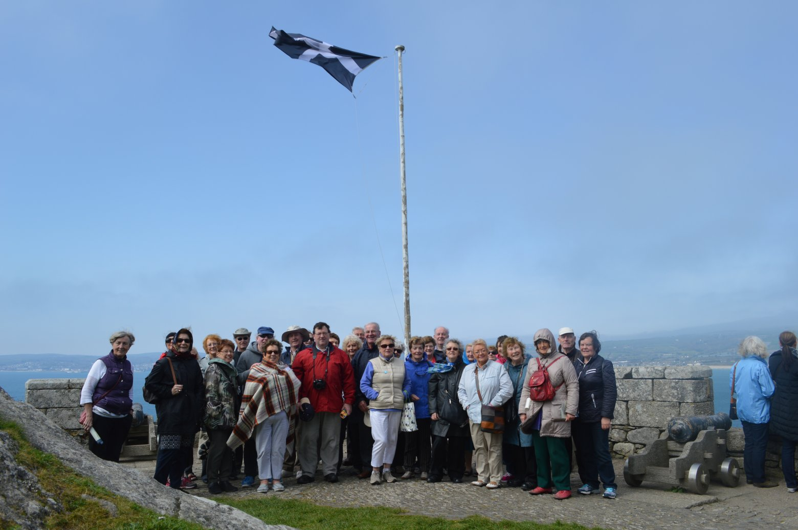 Group on top of St Michael's Mount