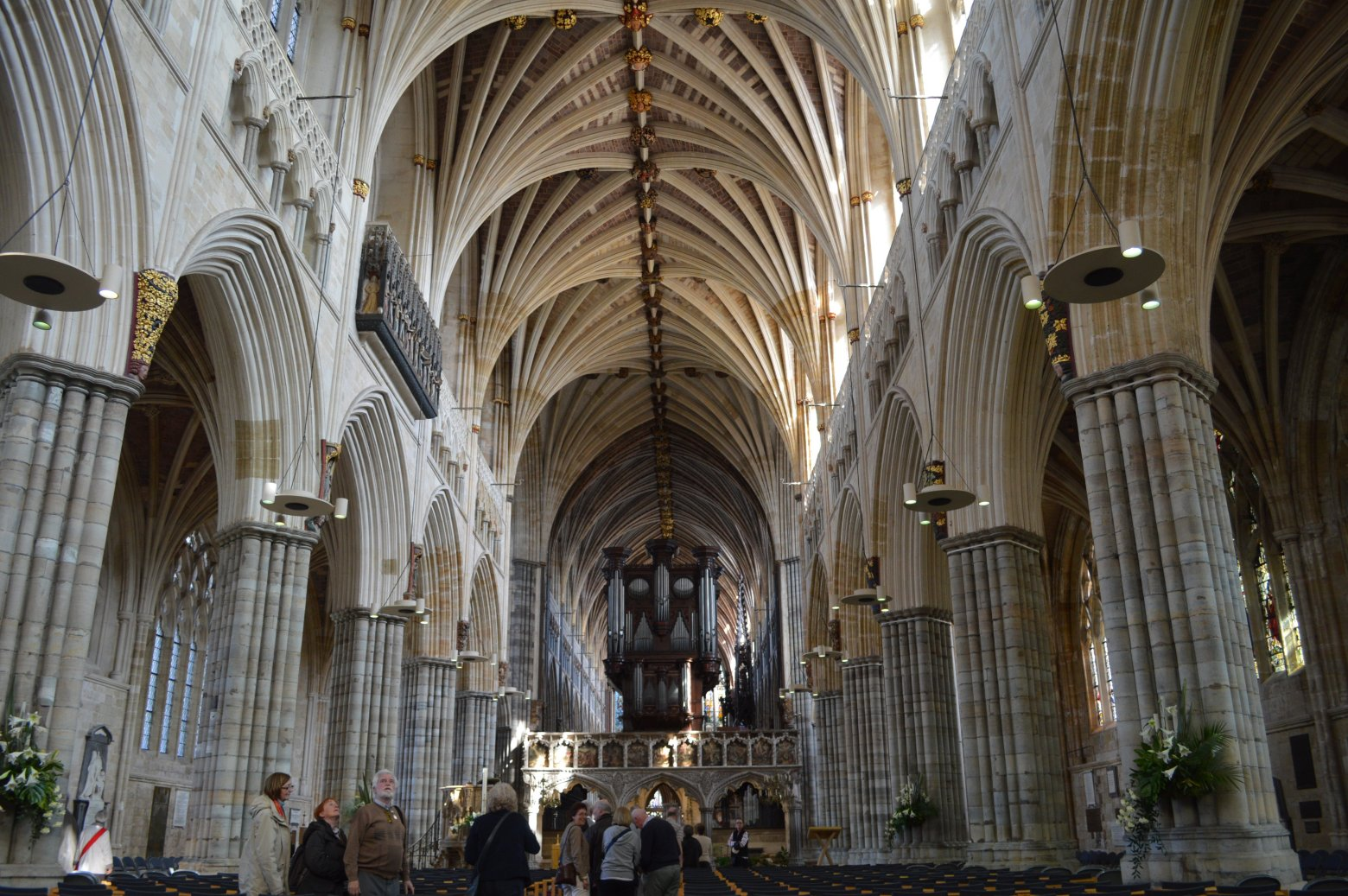 Interior of Exeter Cathedral