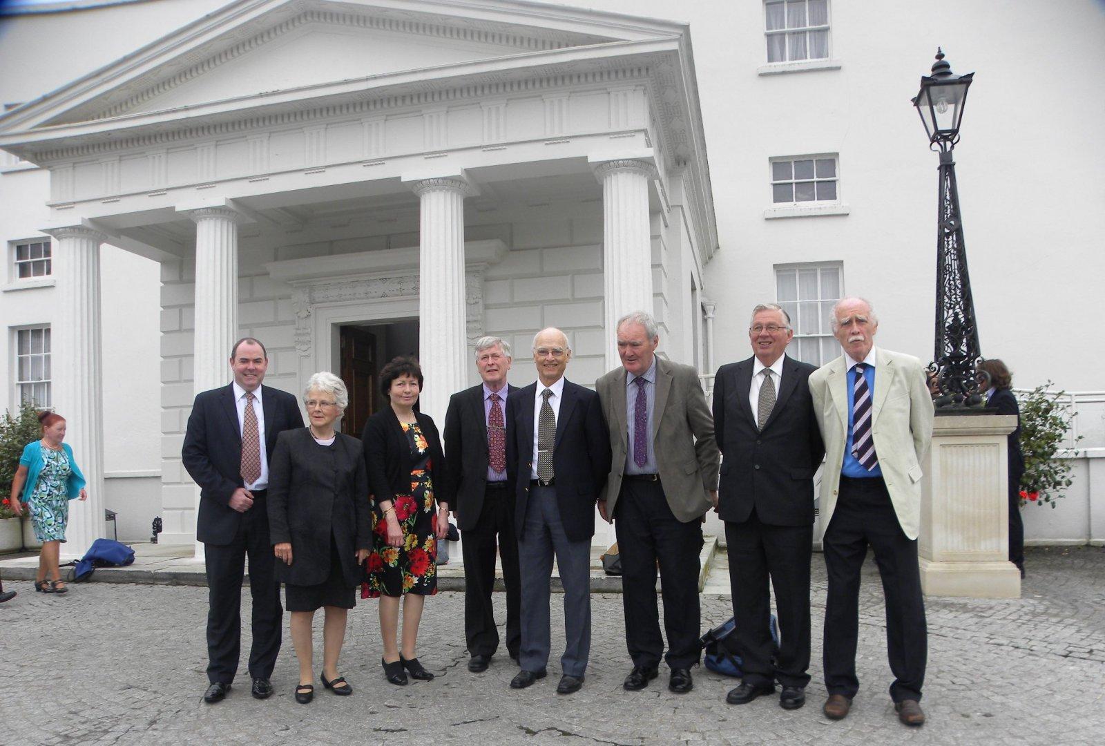 From left: Roddy Hegarty, Doreen McBride, Martina Griffin, Frank Taffe, Dick Ryan, John Dooher, John Hulme and Larry Breen