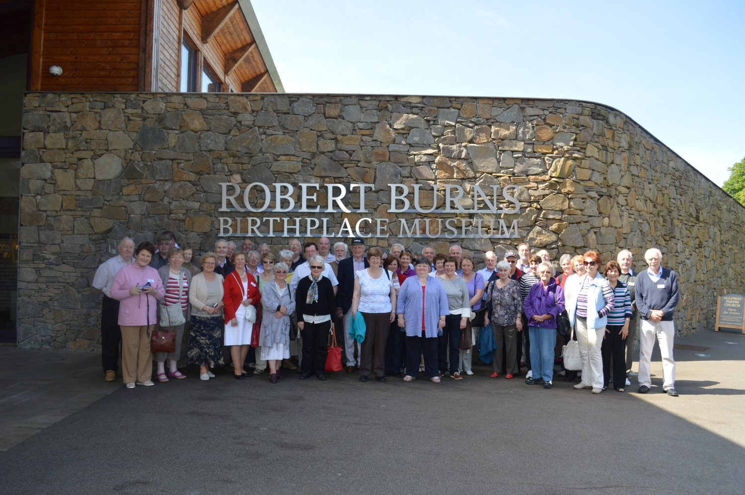 Group at Burns Birthplace Museum