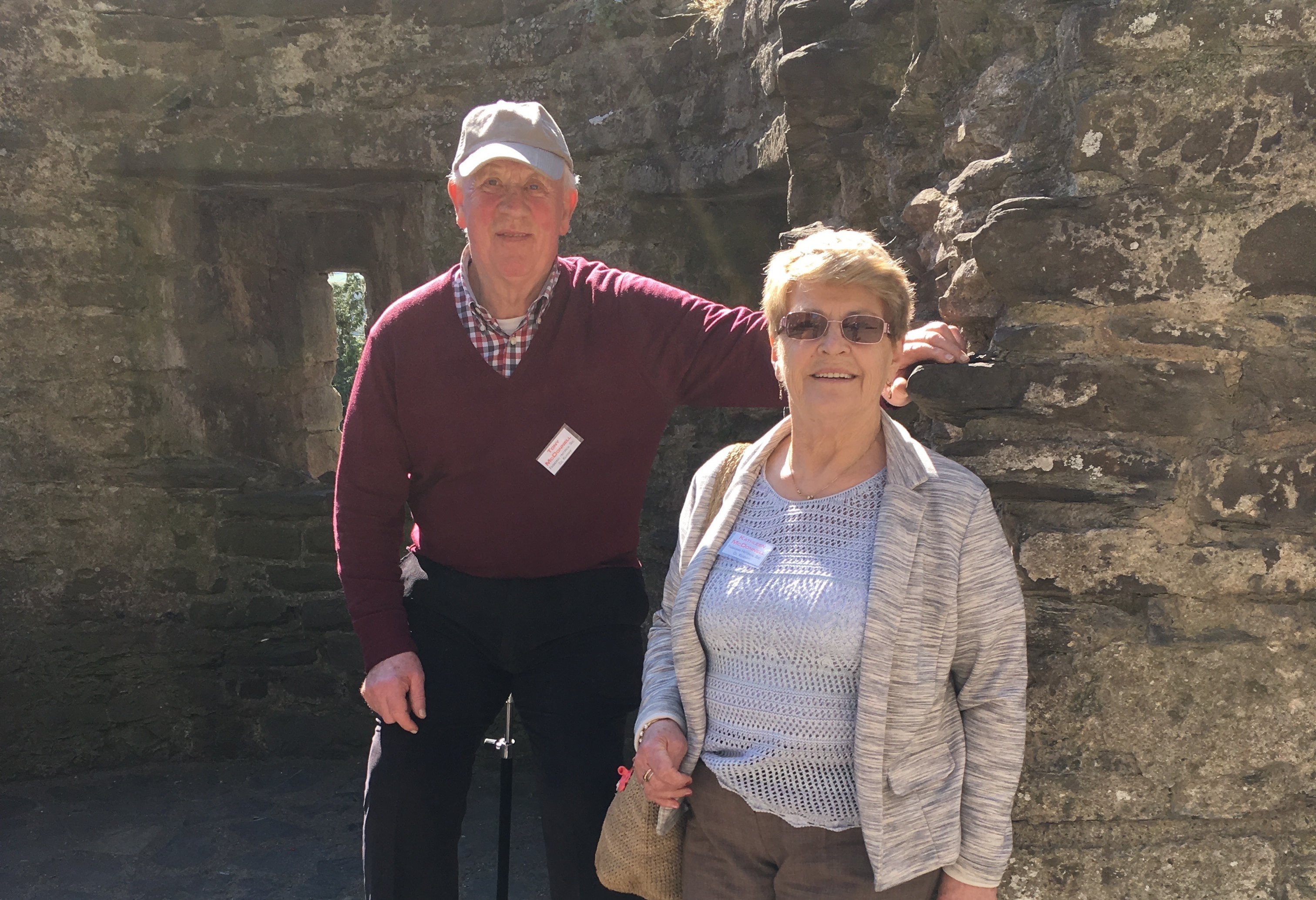Anthony and Kathleen McDonnell at Caernavon Castle