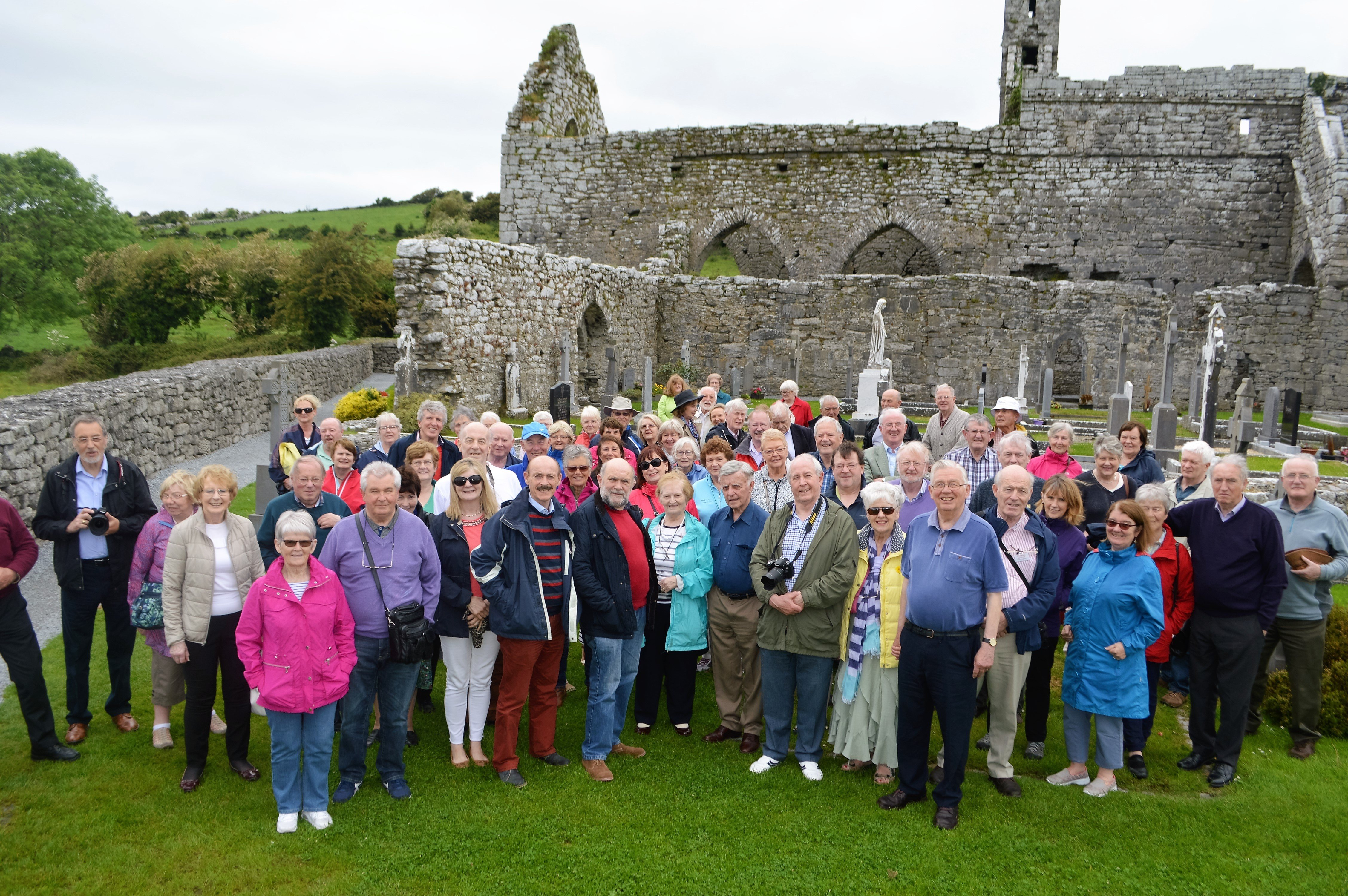Group at Corcomroe Abbey, an early 13th-century Cistercian monastery in the Burren, Co Clare