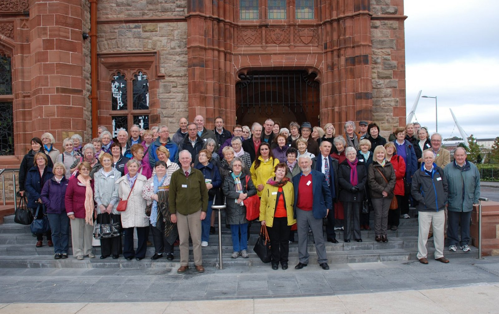 Both groups at the Guildhall