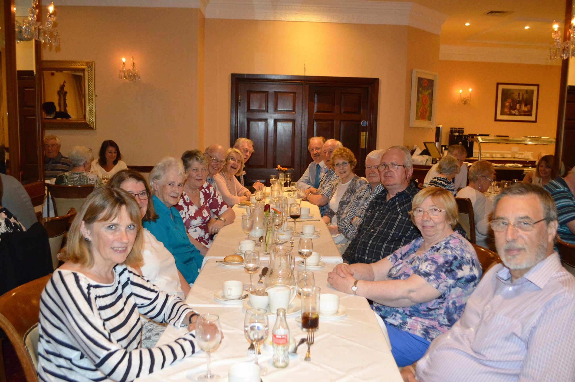 Some of the delegates at dinner