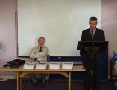 Trevor Parkhill launches the journal - PHOTO Pat Devlin