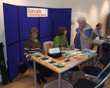 Patricia Magennis and Kathleen Gill at the Lecale table - PHOTO Pat Devlin
