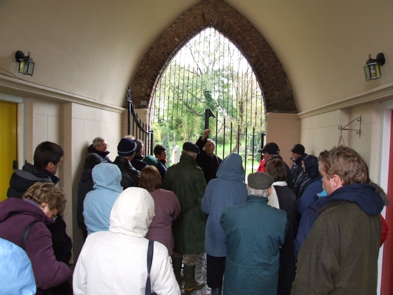 The group gathers at the entrance to the Cemetery - PHOTO Pat Devlin