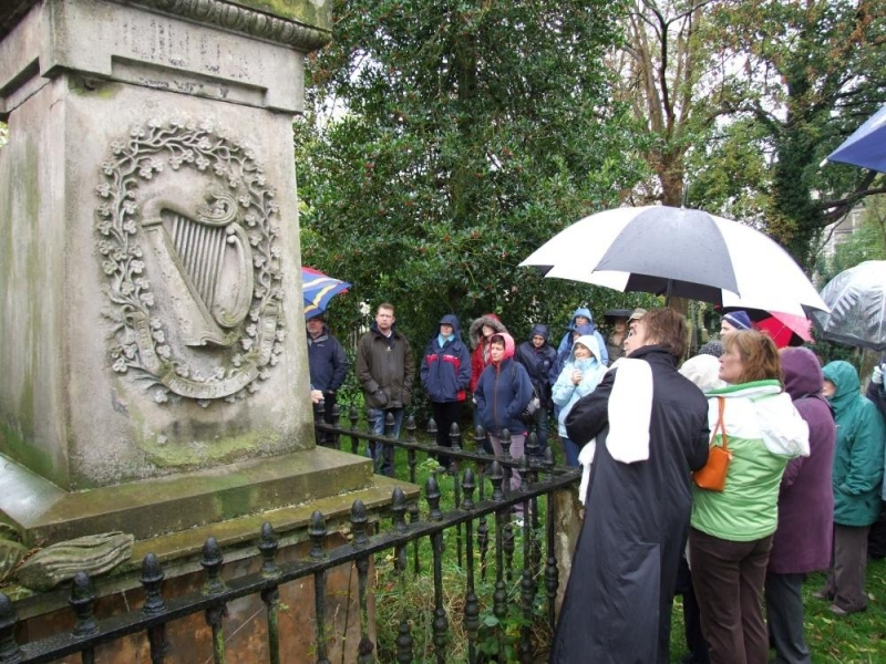 On the tour of the Cemetery - PHOTO Pat Devlin