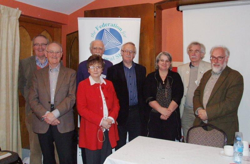 Johnny Dooher, Pat Devlin, Rosaleen Kearney, Larry Breen, Larry McDermott, Ida Milne, Eamon Thornton and Prof. Gillespie