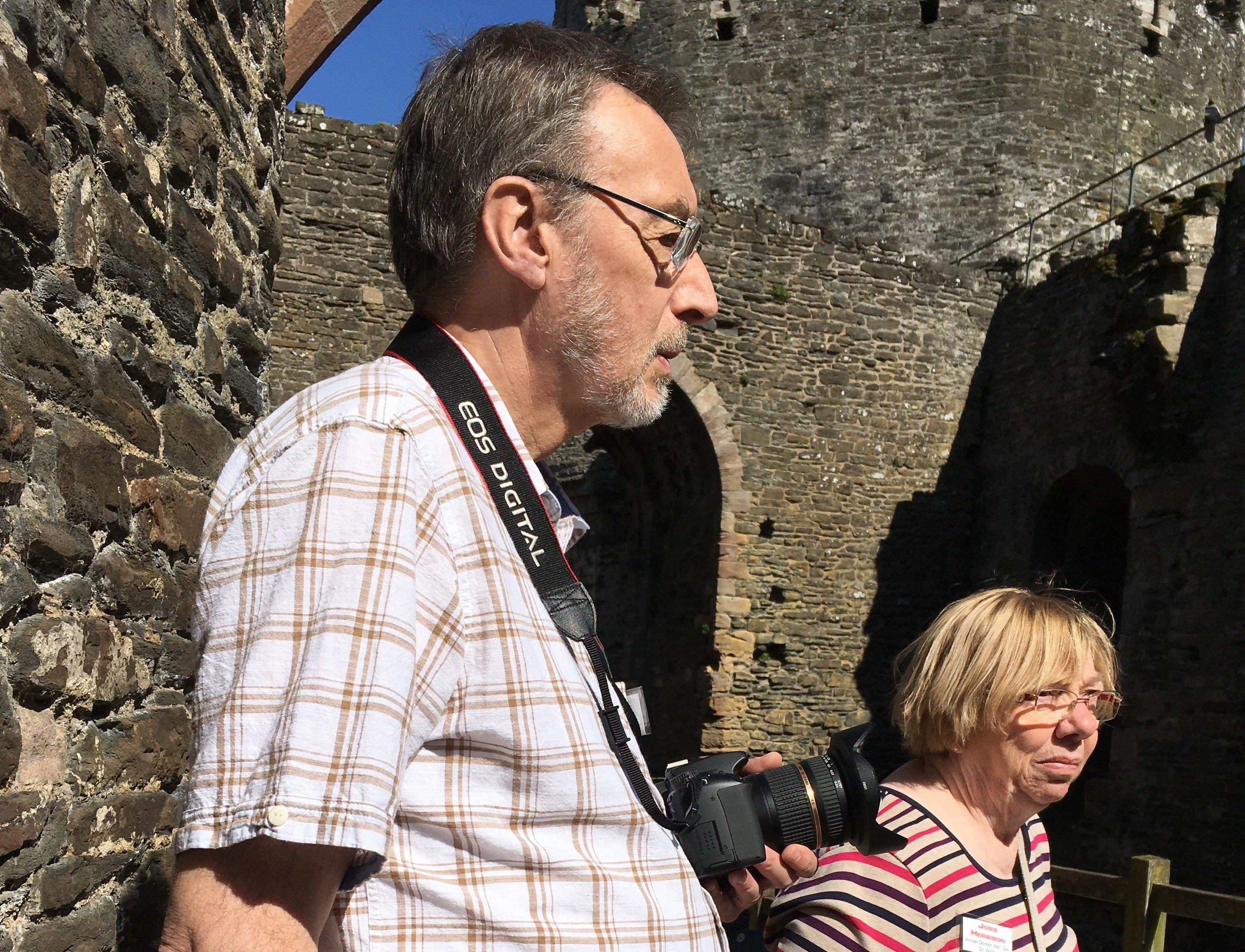 Matt and Josie Herbison at Conway Castle