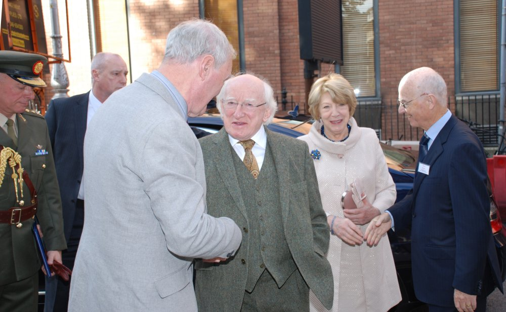 President and Sabina Higgins greeted by the Federations' Chairmen, Johnny Dooher and Richard Ryan