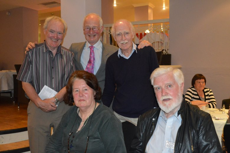 Back: Johnny Dooher, Richard Davidson, Larry Breen. Front: Marie Davidson and Fr. Sean O'Doherty