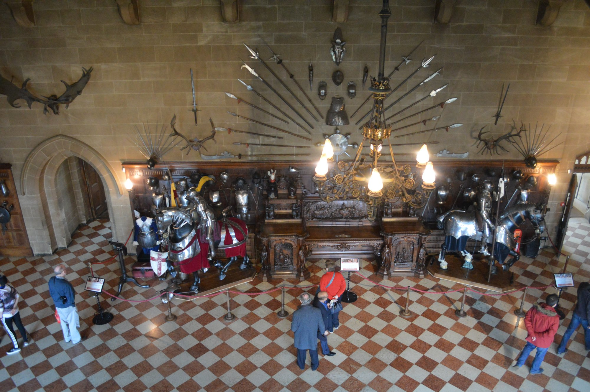 great hall, Warwick Castle