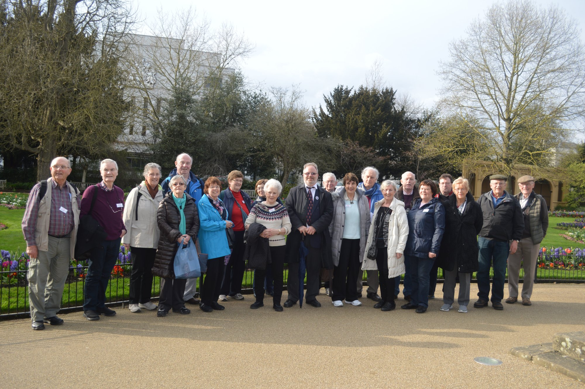 Group on walking tour of Leamington