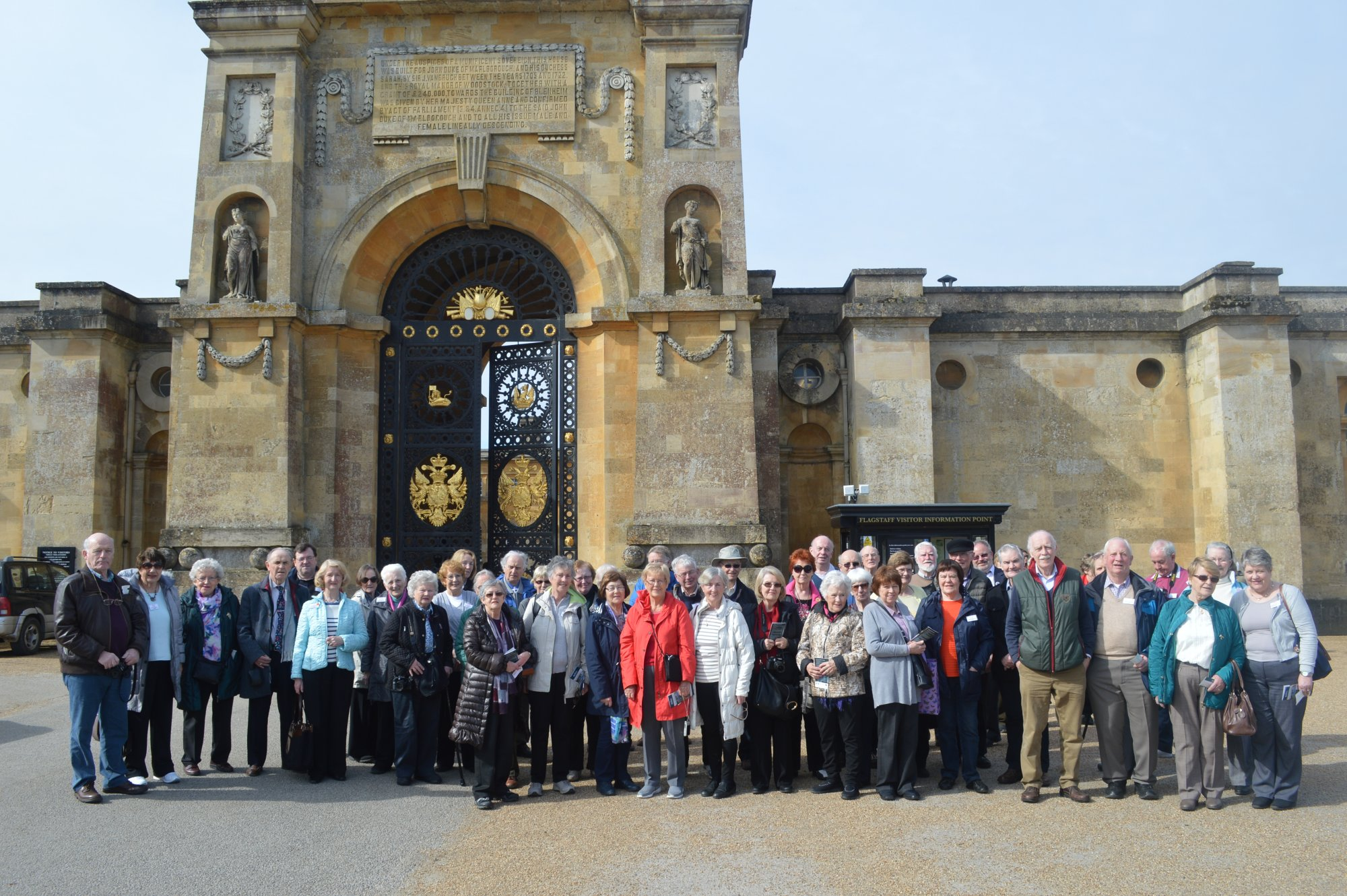 Group outside Blenheim Palace