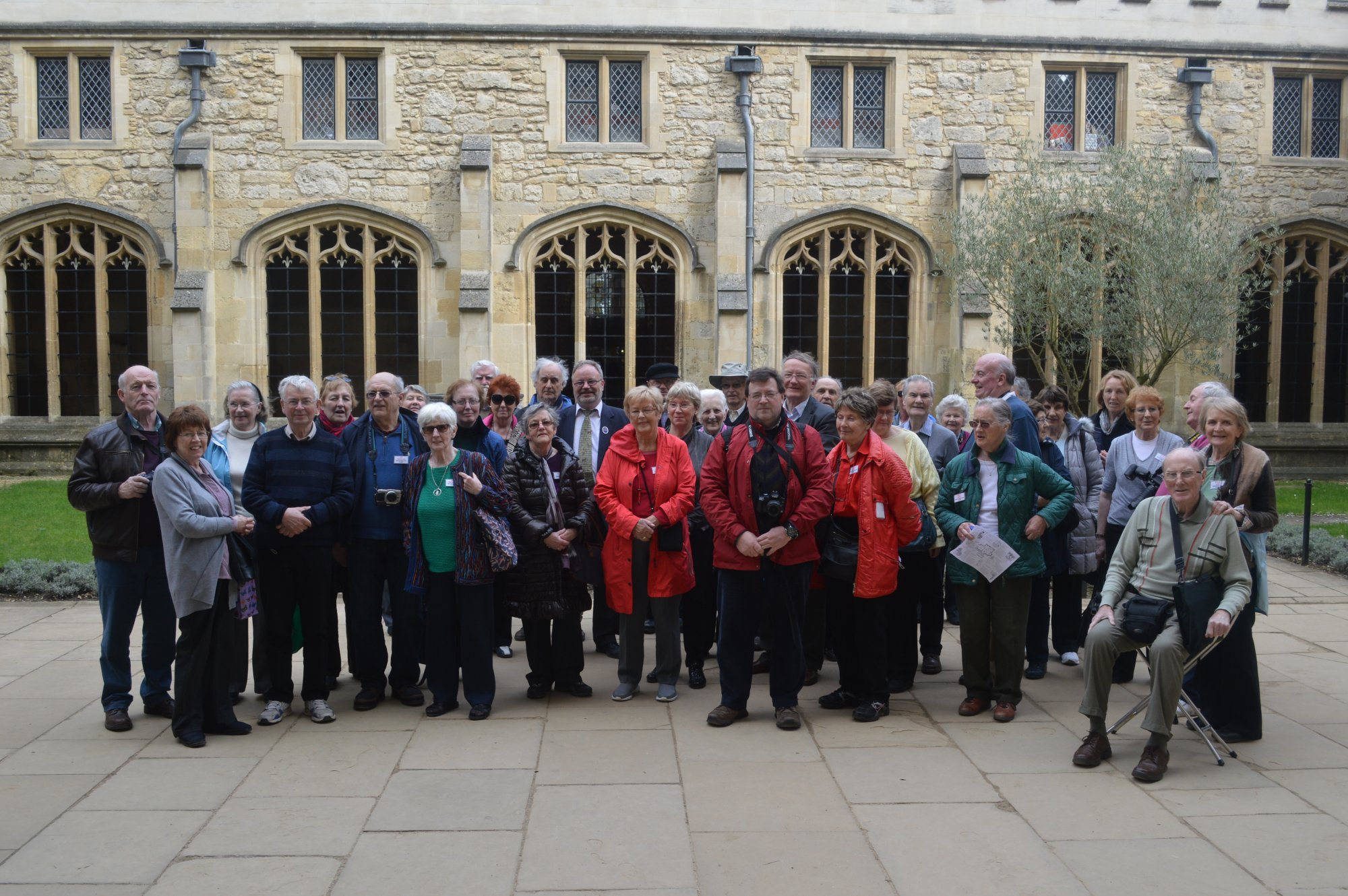 Group in Courtyard, Christchurch College, Oxford