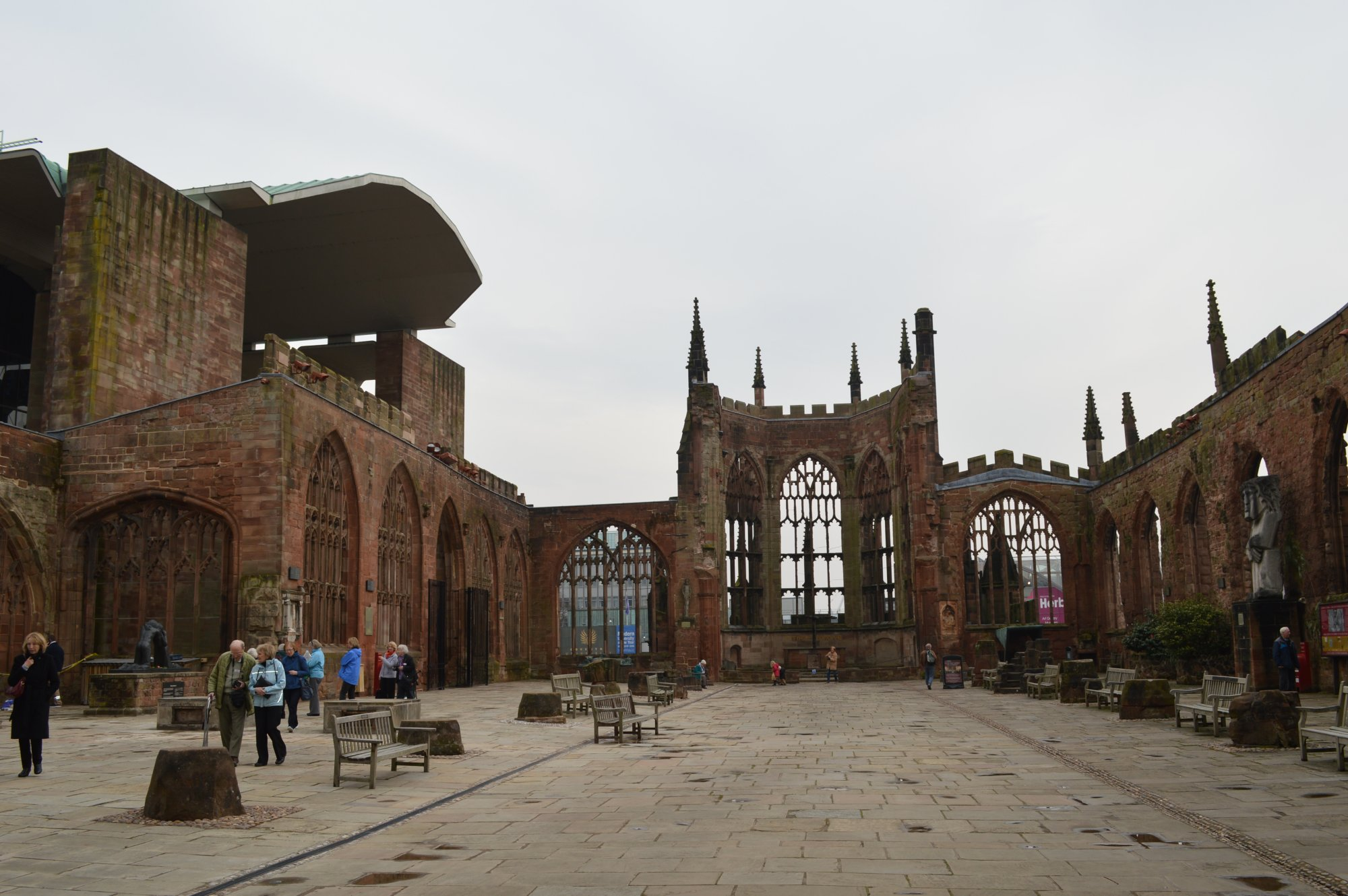 Ruins of old Coventry Cathedral