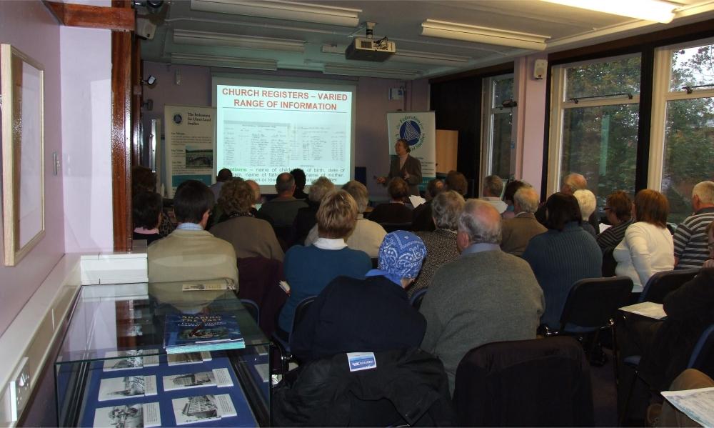 Valerie Adams of PRONI discussing the sources - PHOTO Pat Devlin