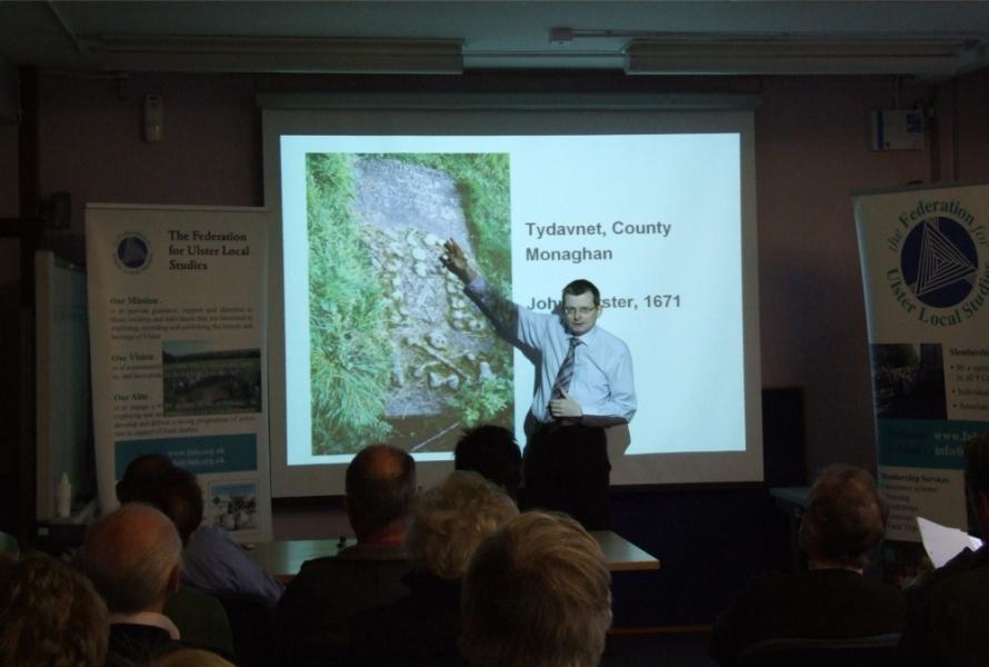 Dr William Roulston's presentation - PHOTO Pat Devlin