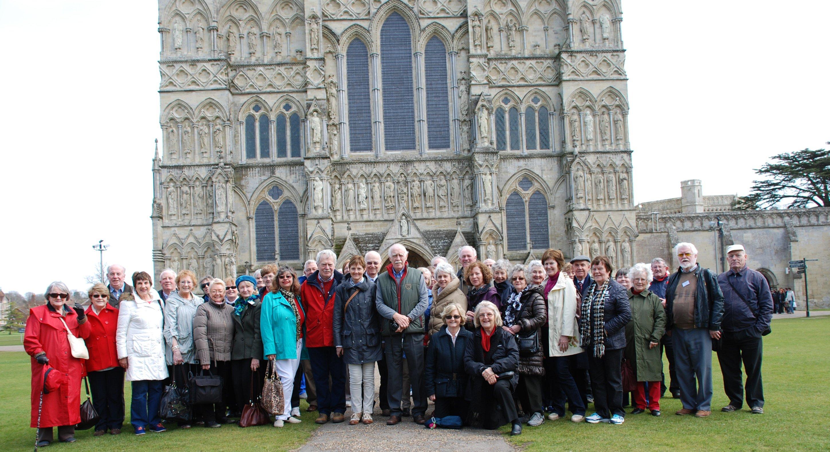 Outside Salisbury Cathedral