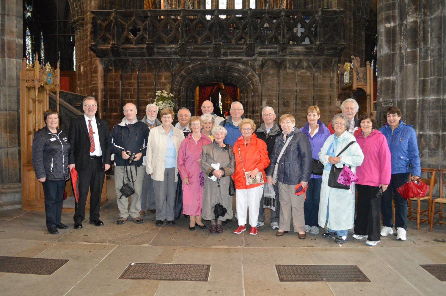 Group at St. Mongo's Cathedral
