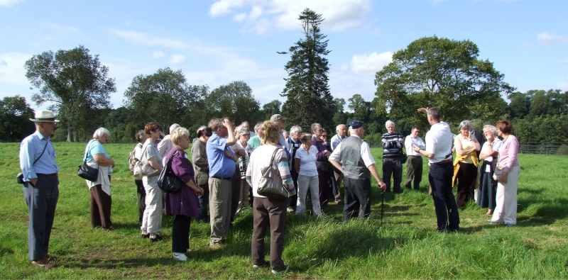 On the battlefield - guide describes the events of the day - PHOTO Pat Devlin