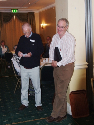 Larry Breen (right) and John Dooher welcoming the joint visit
