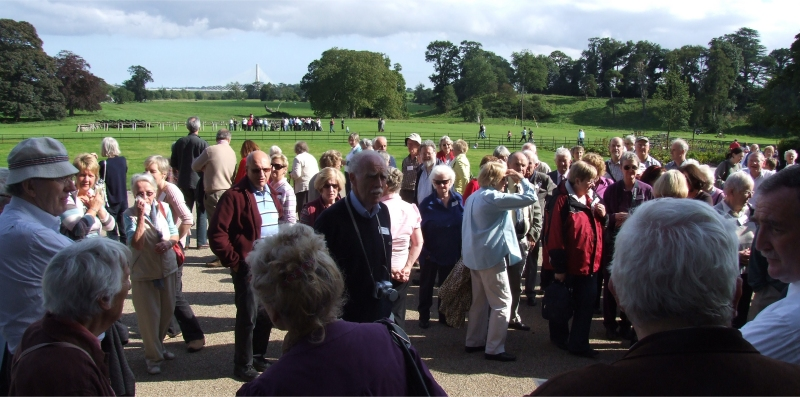 The groups gather at the Boyne Centre - battleground and new bridge in background - PHOTO Pat Devlin